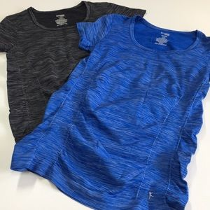 2 Danskin NOW Semi-fitted Workout Tees